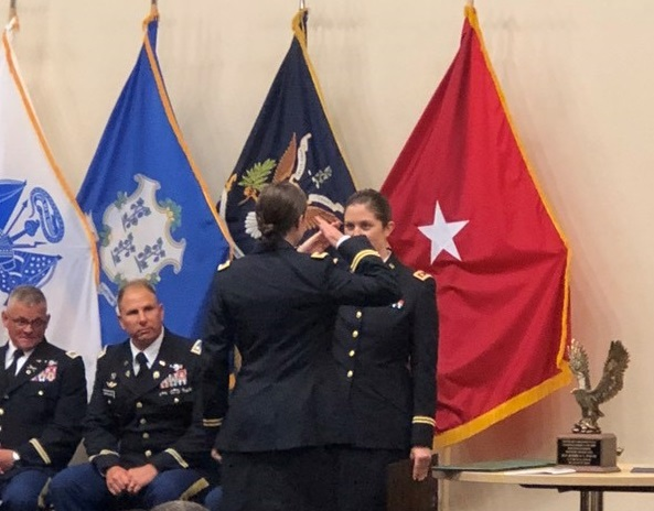 ASM's Kayla Fortin Commissioned in Army National Guard